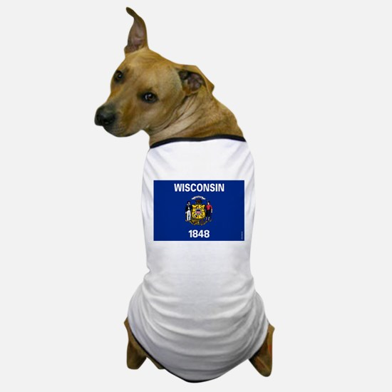 Wisconsin State Flag Dog T-Shirt