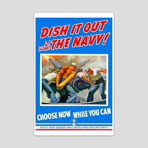 Choose Navy Mini Poster Print