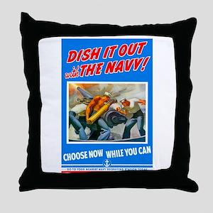Choose Navy Throw Pillow
