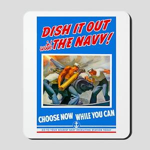 Choose Navy Mousepad