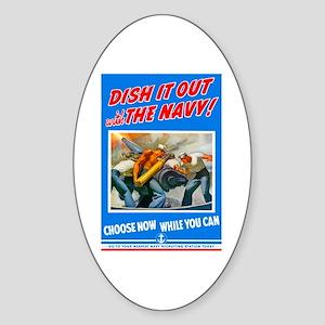 Choose Navy Oval Sticker