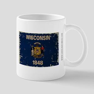 Wisconsin State Flag VINTAGE Mugs