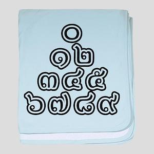 Thai Numbers Pyramid baby blanket