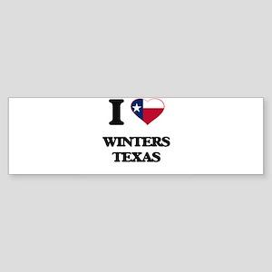 I love Winters Texas Bumper Sticker