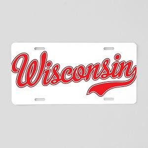 Wisconsin Script Font Aluminum License Plate