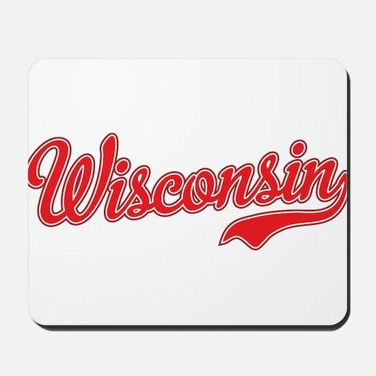 Wisconsin Script Font Mousepad