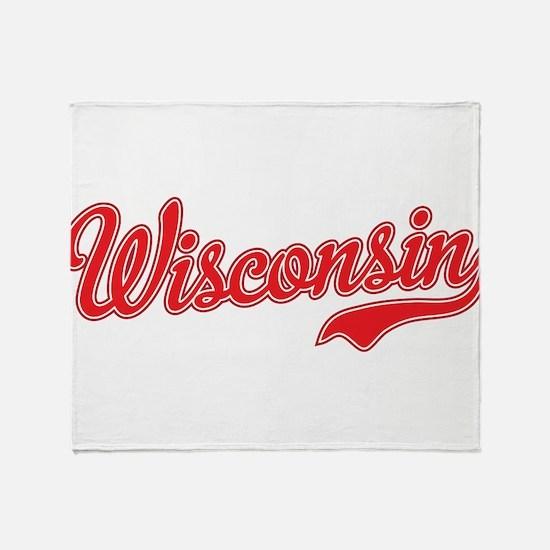 Wisconsin Script Font Throw Blanket