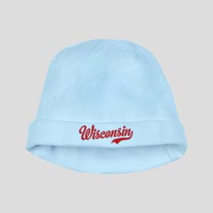 Wisconsin Script Font baby hat