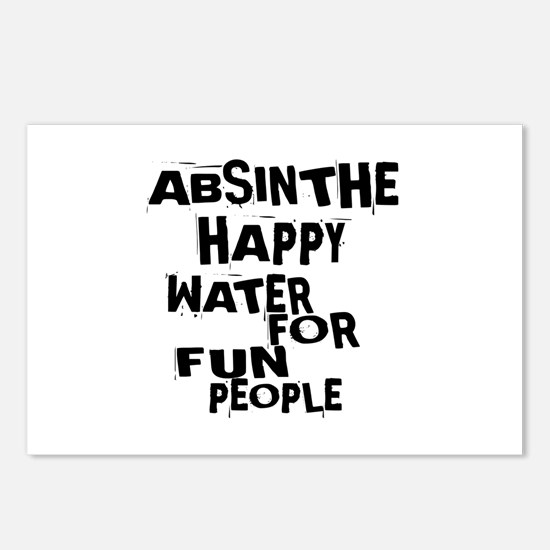 Absinthe Happy Water For Postcards (Package of 8)