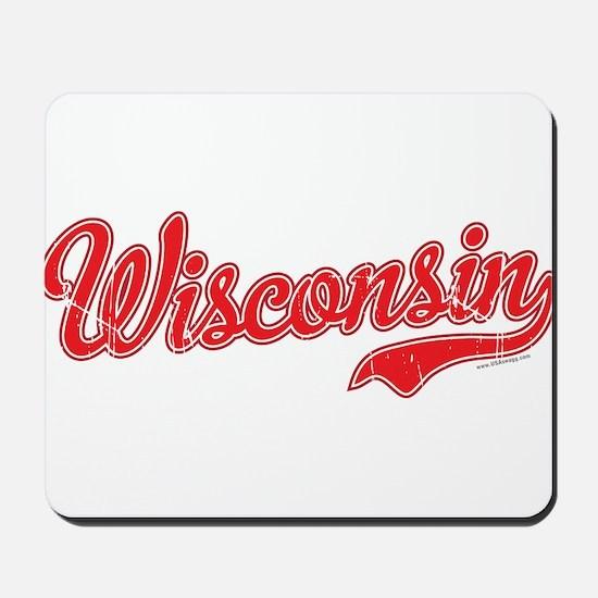 Wisconsin Script Font Vintage Mousepad