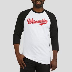 Wisconsin Script Font Vintage Baseball Jersey