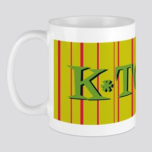 Gold K-Town Knoxville Retro Striped Mug