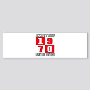 Exciting 1970 Limited Edition Sticker (Bumper)