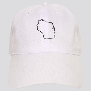 Wisconsin State Outline Cap