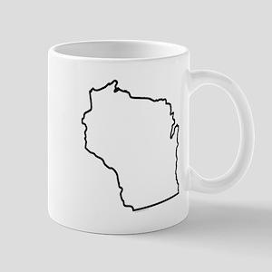Wisconsin State Outline Mug