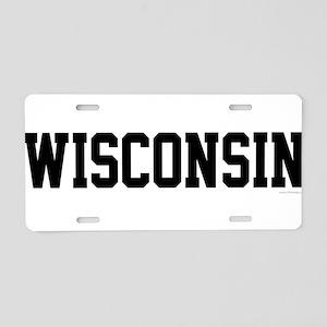 Wisconsin Jersey Black Aluminum License Plate