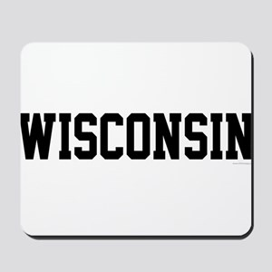 Wisconsin Jersey Black Mousepad