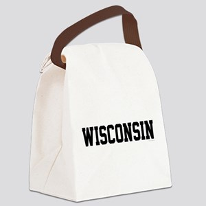 Wisconsin Jersey Black Canvas Lunch Bag