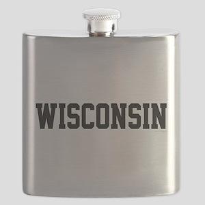 Wisconsin Jersey Black Flask