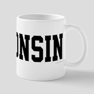 Wisconsin Jersey Black Mug