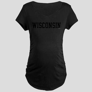Wisconsin Jersey Black Maternity Dark T-Shirt