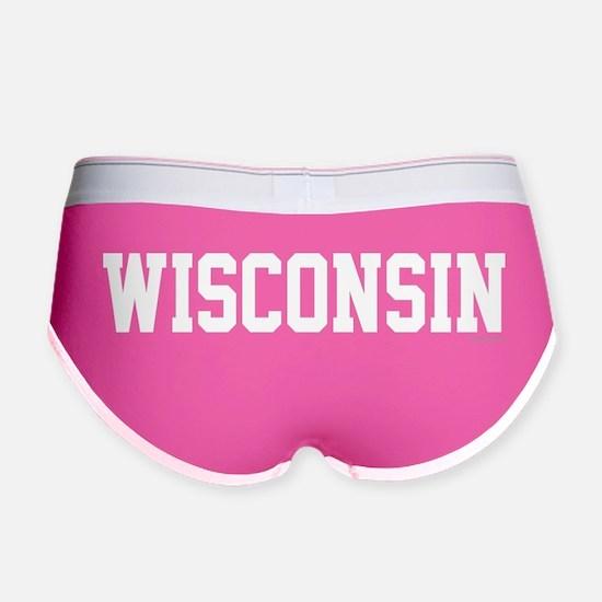 Wisconsin Jersey White Women's Boy Brief