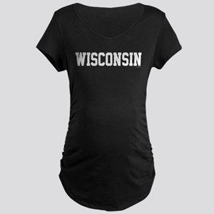 Wisconsin Jersey White Maternity Dark T-Shirt