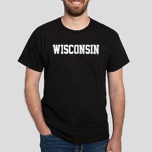 Wisconsin Jersey White Dark T-Shirt