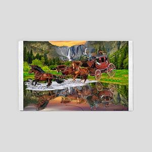 Wells Fargo Stagecoach Area Rug