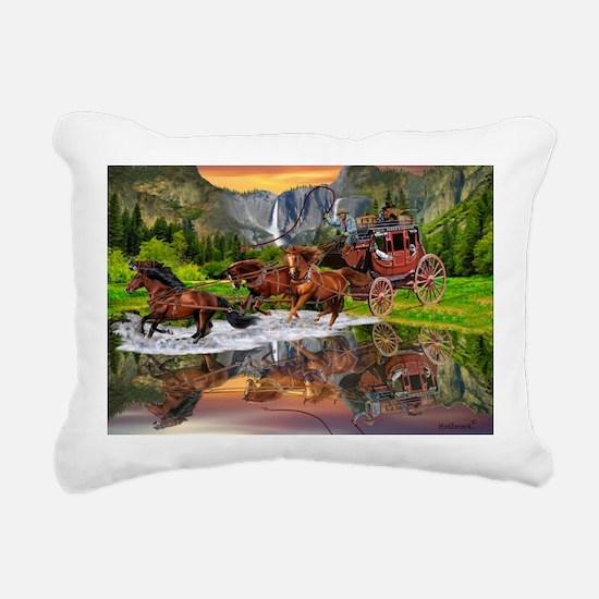 Wells Fargo Stagecoach Rectangular Canvas Pillow