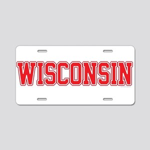 Wisconsin Jersey Red Aluminum License Plate