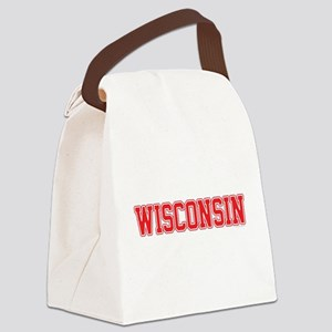 Wisconsin Jersey Red Canvas Lunch Bag