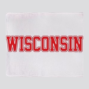 Wisconsin Jersey Red Throw Blanket