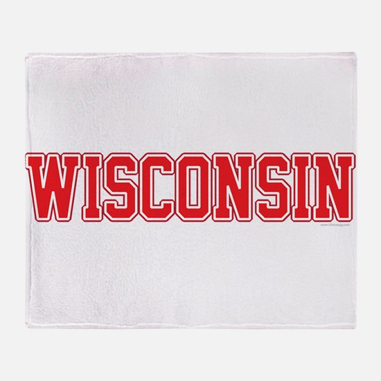 Wisconsin Jersey Red Throw Blanket