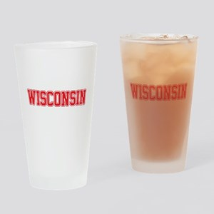 Wisconsin Jersey Red Drinking Glass