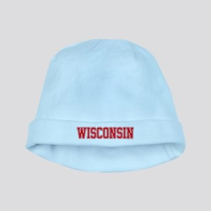 Wisconsin Jersey Red baby hat