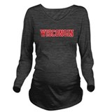 Wisconsin badgers Dark Long Sleeve Maternity T-Shirt
