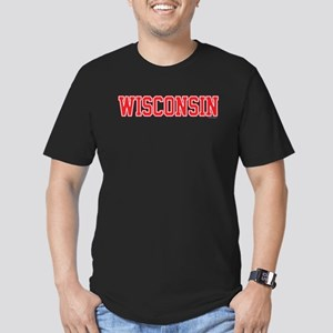 Wisconsin Jersey Red Men's Fitted T-Shirt (dark)