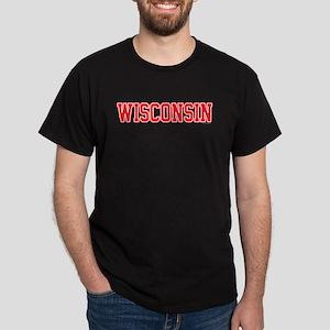 Wisconsin Jersey Red Dark T-Shirt