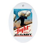 Join the Navy Oval Ornament