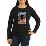 Join the Navy (Front) Women's Long Sleeve Dark T-S