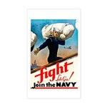 Join the Navy Rectangle Sticker