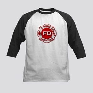 red white fire department symbol Baseball Jersey