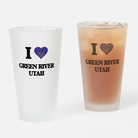 I love Green River Utah Drinking Glass