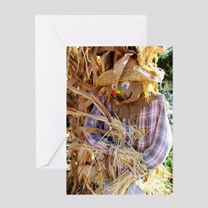 Fall scarecrow Greeting Cards