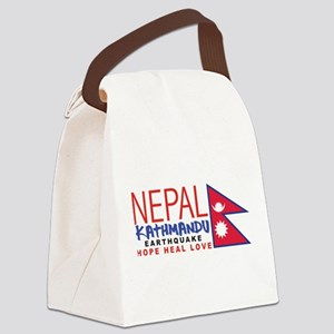 Nepal Earthquake Canvas Lunch Bag