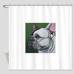 Pied French Bulldog Shower Curtain