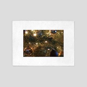 Perfect Christmas ornaments 5'x7'Area Rug