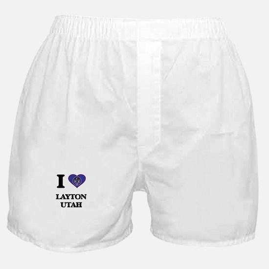 I love Layton Utah Boxer Shorts