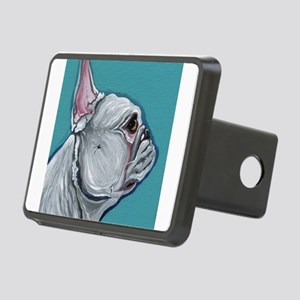 White French Bulldog Rectangular Hitch Cover